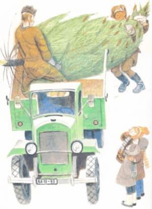 Заколдованная буква: привезли елку во двор