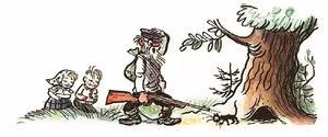 Страшный зверь - Сутеев В.Г.: Из норы выходит котёнок