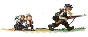 Страшный зверь - Сутеев В.Г.: Лесник идет к норе