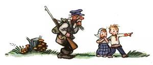 Страшный зверь - Сутеев В.Г.: Лесник слушает детей