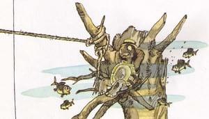Братец Черепаха привязал веревку к коряге