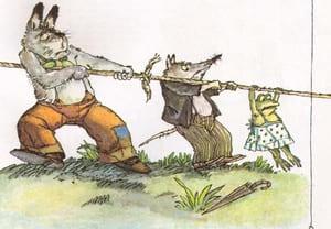 Кролик, Опоссум и Лягушка помогают Медведю
