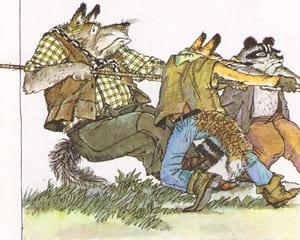 Волк и Лис помогают медведю